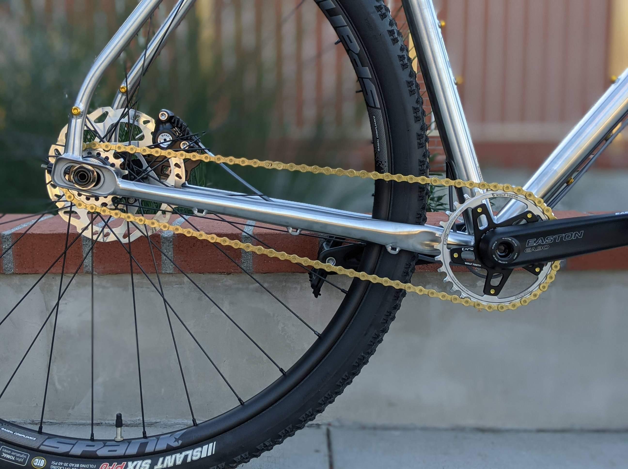 Single Speed drivetrain on bicycle