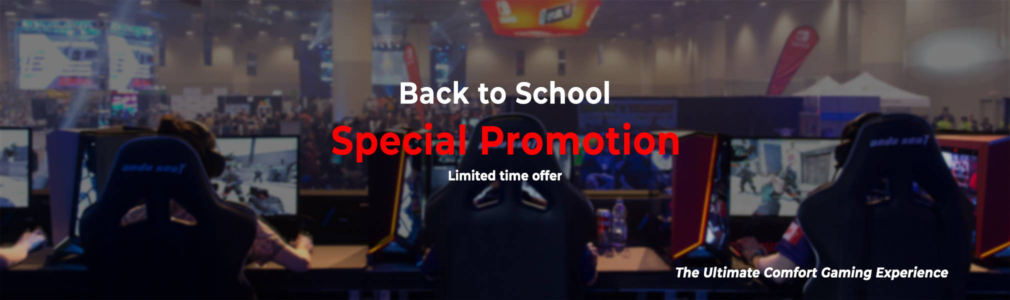 Back to school gaming chair promotion