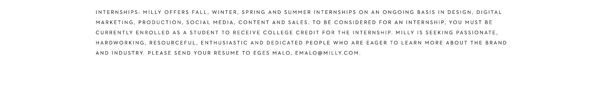 MILLY careers