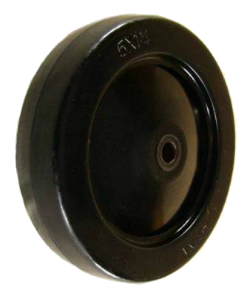 Rubber Caster Wheels - Hard Rubber