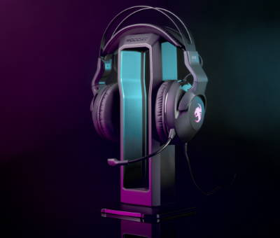 Accessories from Roccat featuring the Elo Headset with stand