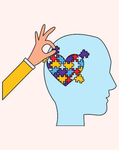 Managing autism Sensory jigsaw loveheart