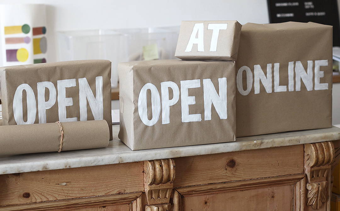 Painted boxes from our Open Online at thehambledon.com window