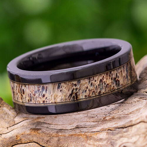 Black Antler Ring