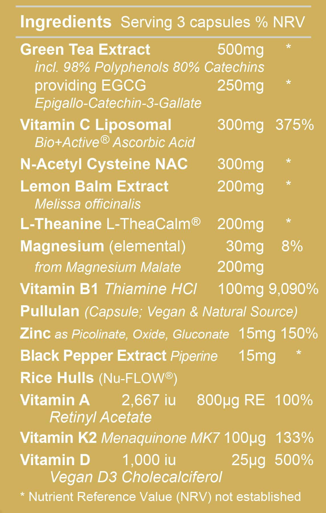 Immune Pro 2 Ingredients