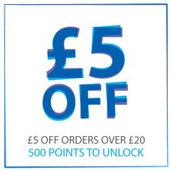 £5 off when you reach 500 points