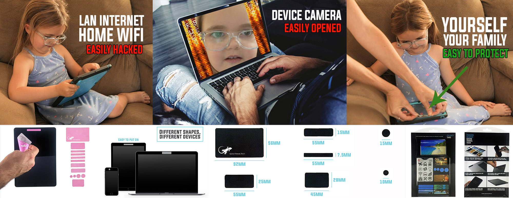 webcam cover can protect you from being spy and hacker, easy stick on webcam covers