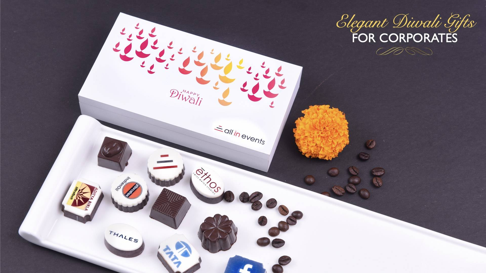 Logo printed chocolates for Diwali gifting