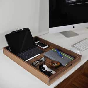 The tray boasts a 20 x 15 inch space and is useful as a portable workstation or to keep all your office materials in one tidy location