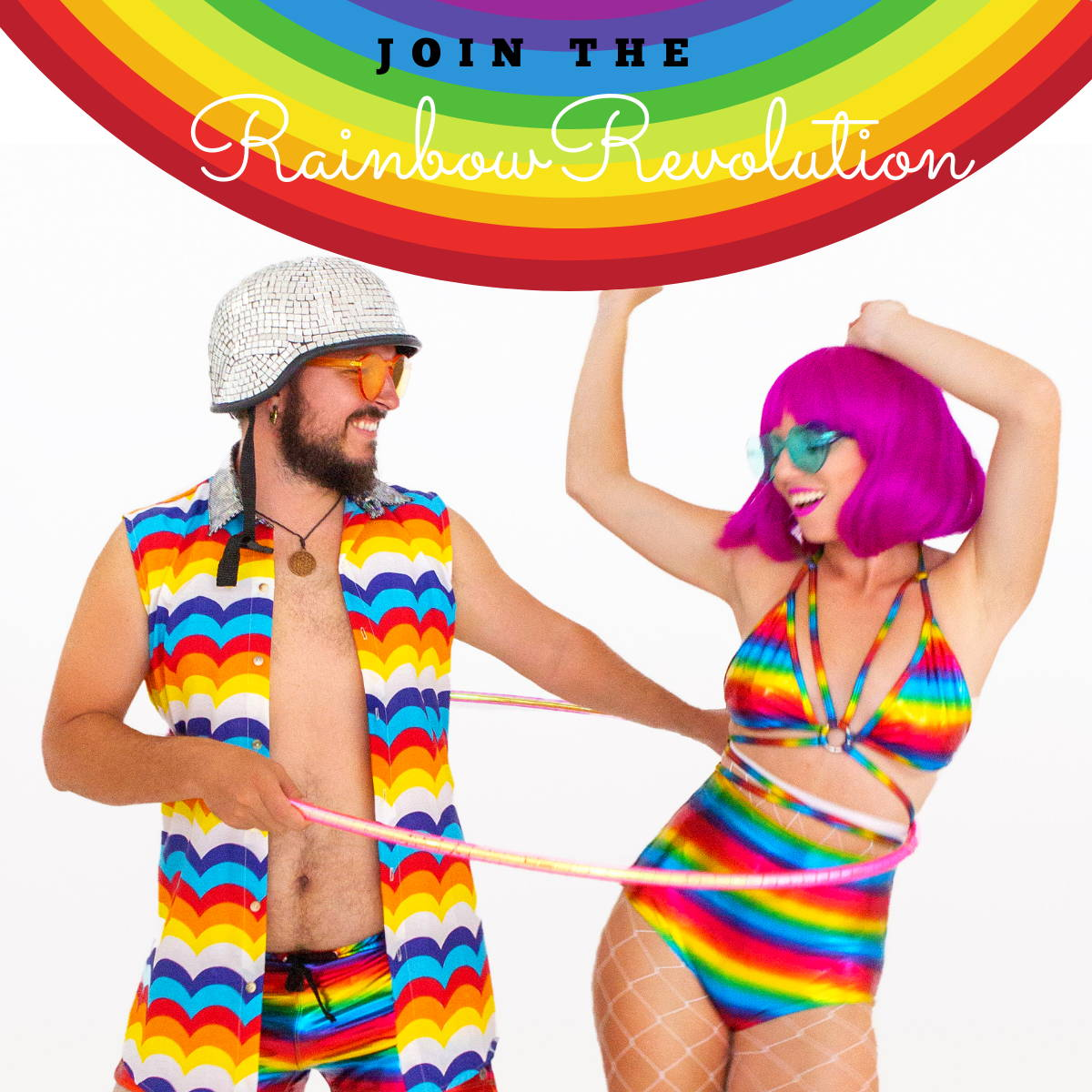 Rainbow Rave Outfits by Sea Dragon Studio