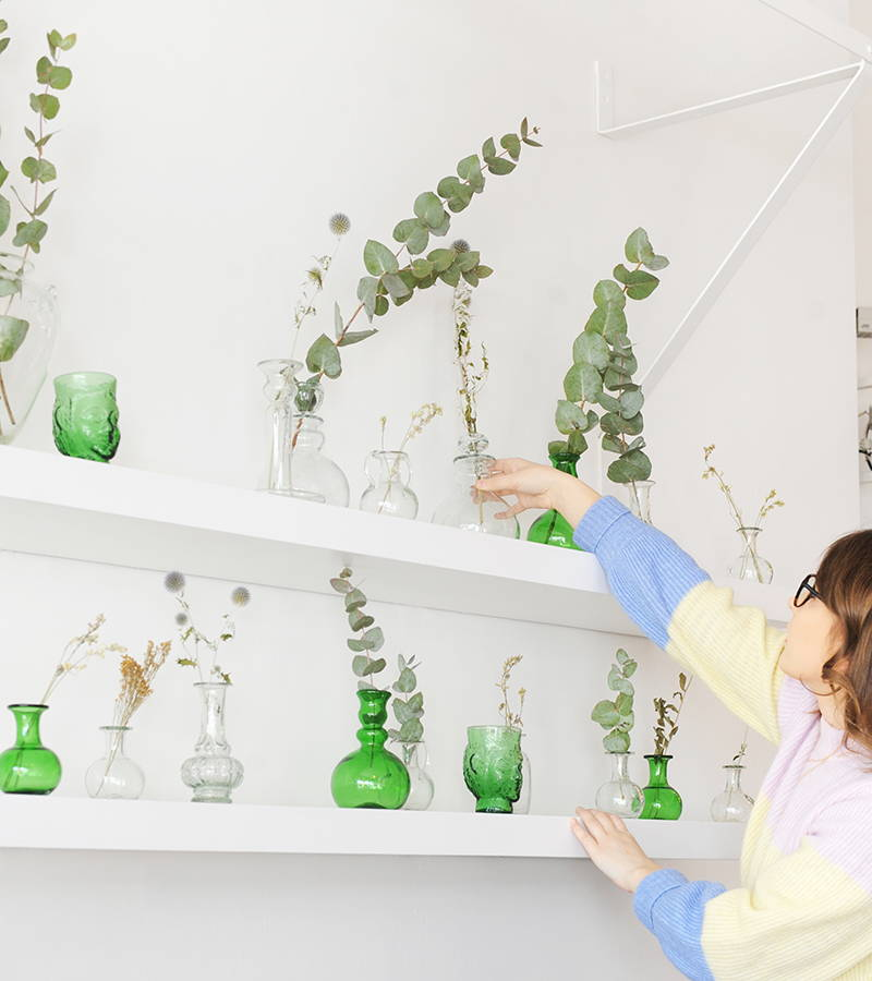 Display of La Soufflerie Vases