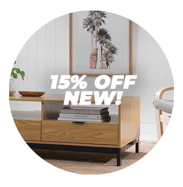 15% OFF ALL NEW!