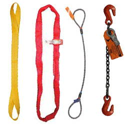 Nylon, Polyester, Wire Rope and Chain Lifting Slings