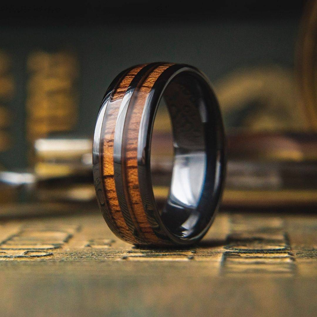 Men's Wooden Barrel Ring