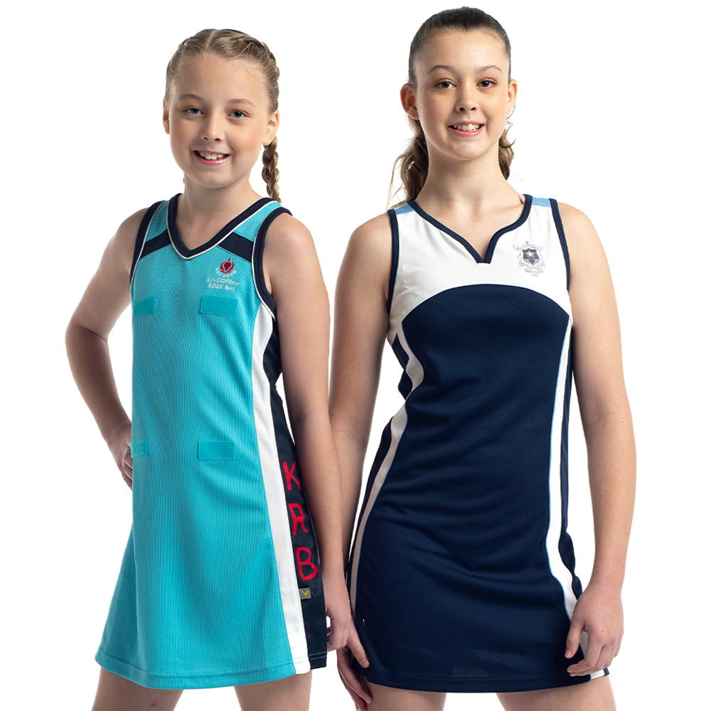 Valour Sport can design cost-effective sublimated or premium cut and sew netball dresses
