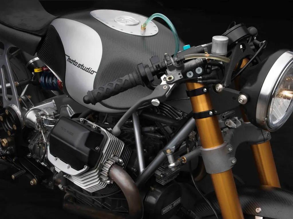 Close-Up Moto Guzzi by Bruce McQuiston