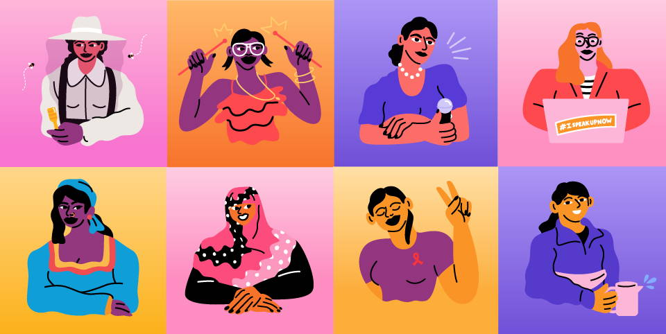 illustration of women