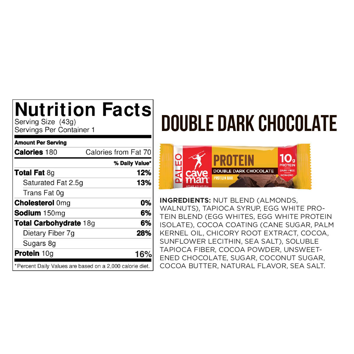 Nutrition Information - All Products | Caveman Foods