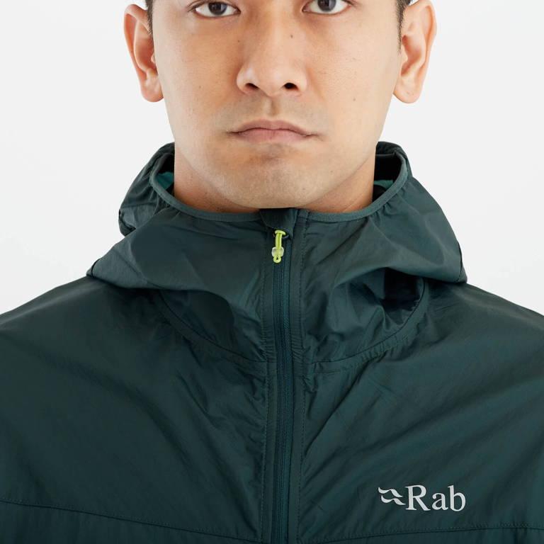 Rab(ラブ)/バイタルウインドシェルフーディ/ダークグリーン/MENS