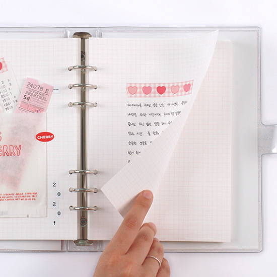 120gsm paper - After The Rain Twinkle pocket 6-ring undated monthly diary