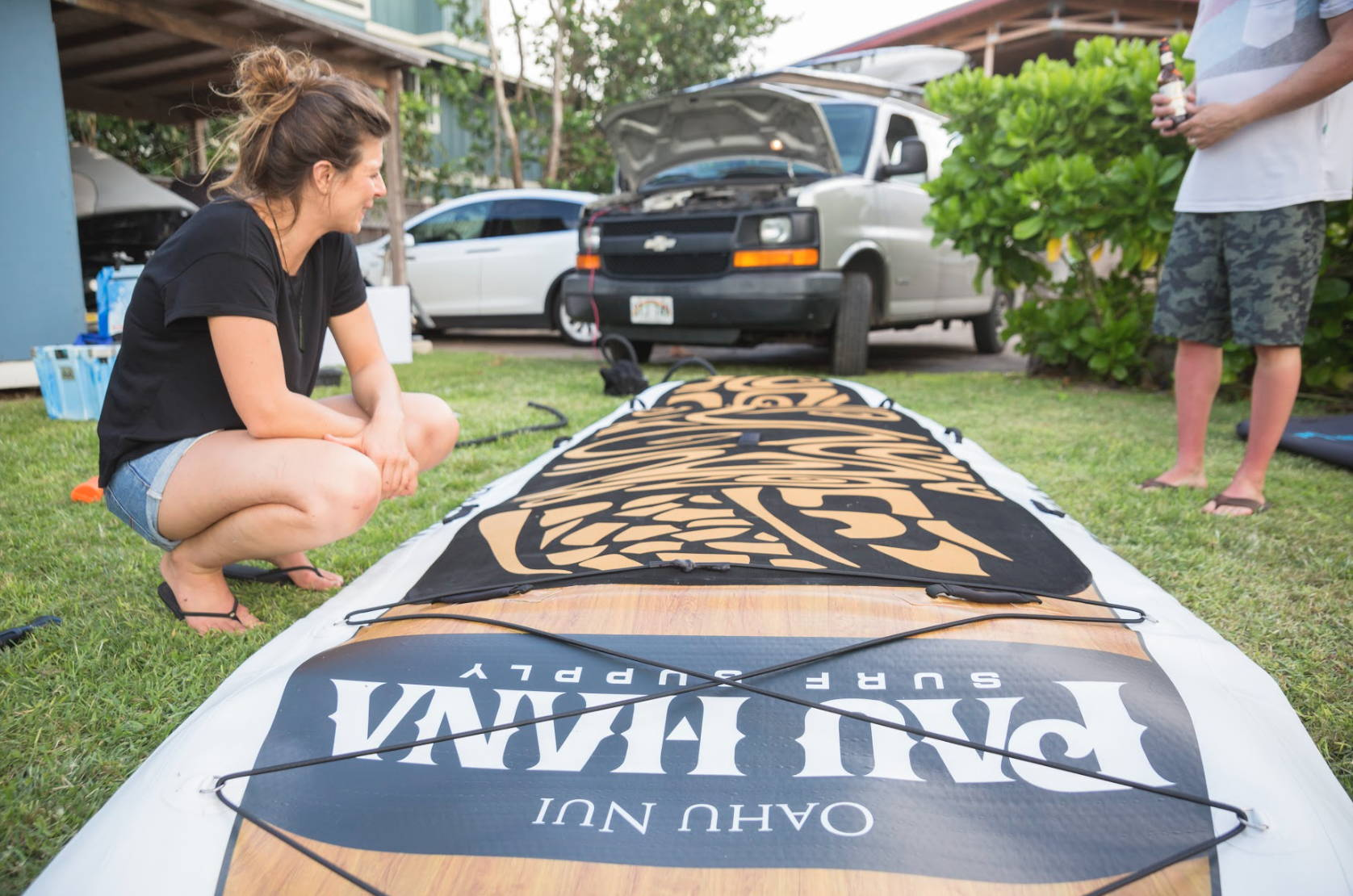 Oahu nui giant stand up paddle board inflatable