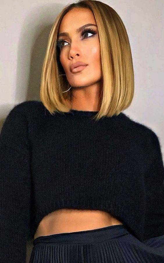 Balayage on Straight Short Hairstyle