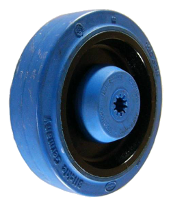 Rubber Caster Wheels - Elastic Rubber