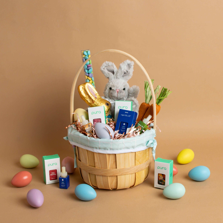Easter basket with Pura fragrances inside