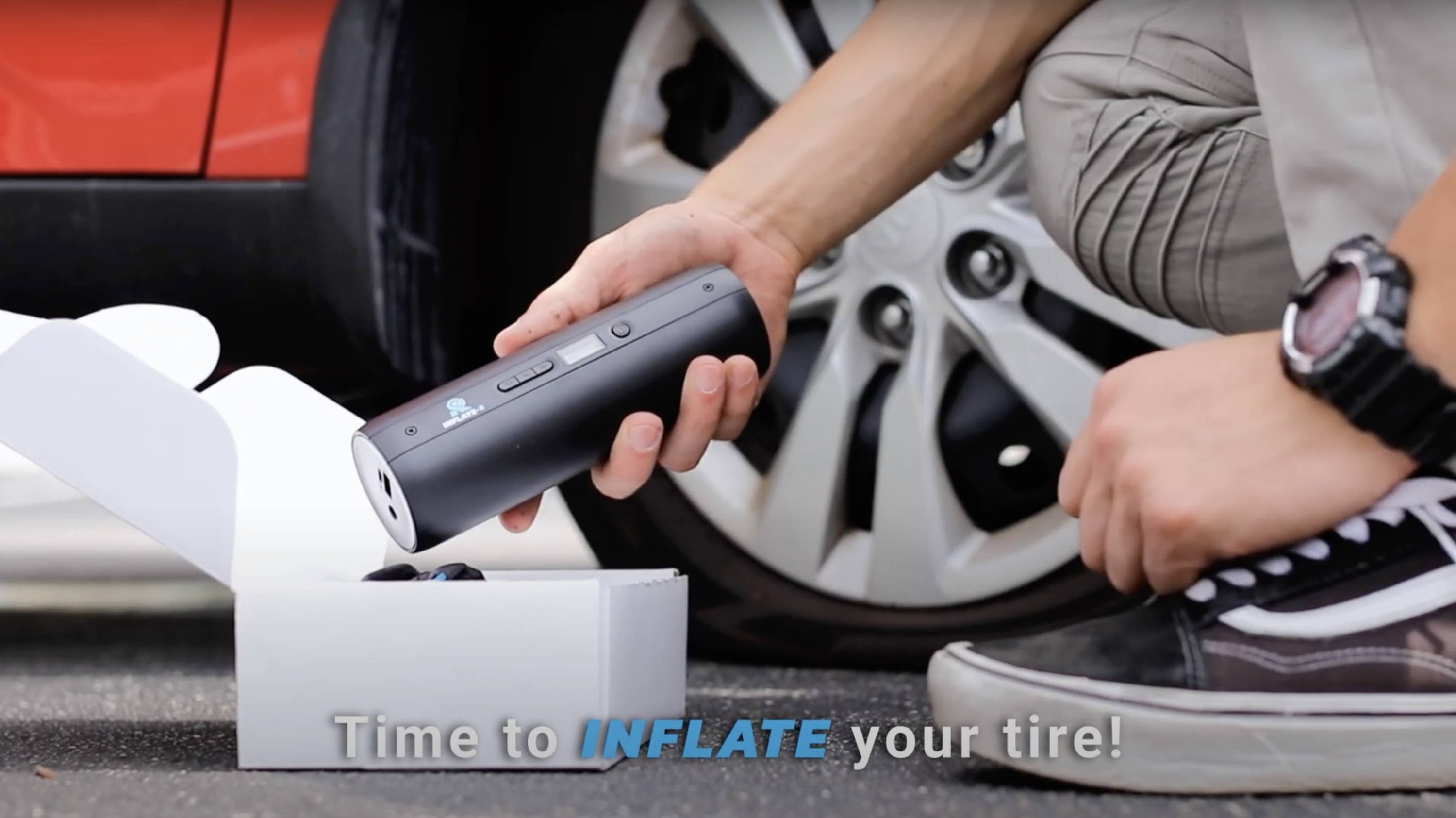 Time to inflate your tire with InflateR.
