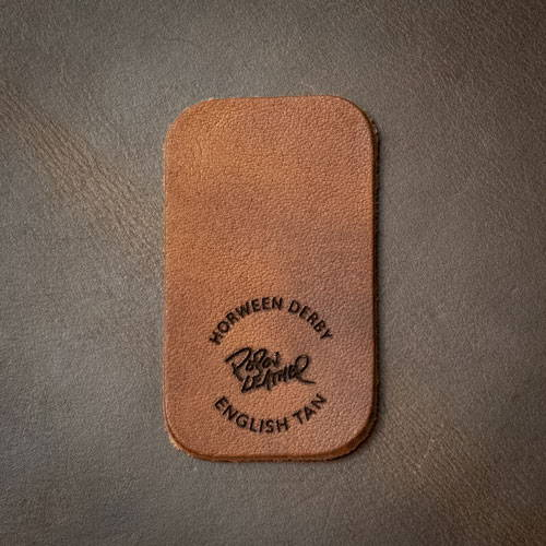 Laser Engraving on Leather - English Tan