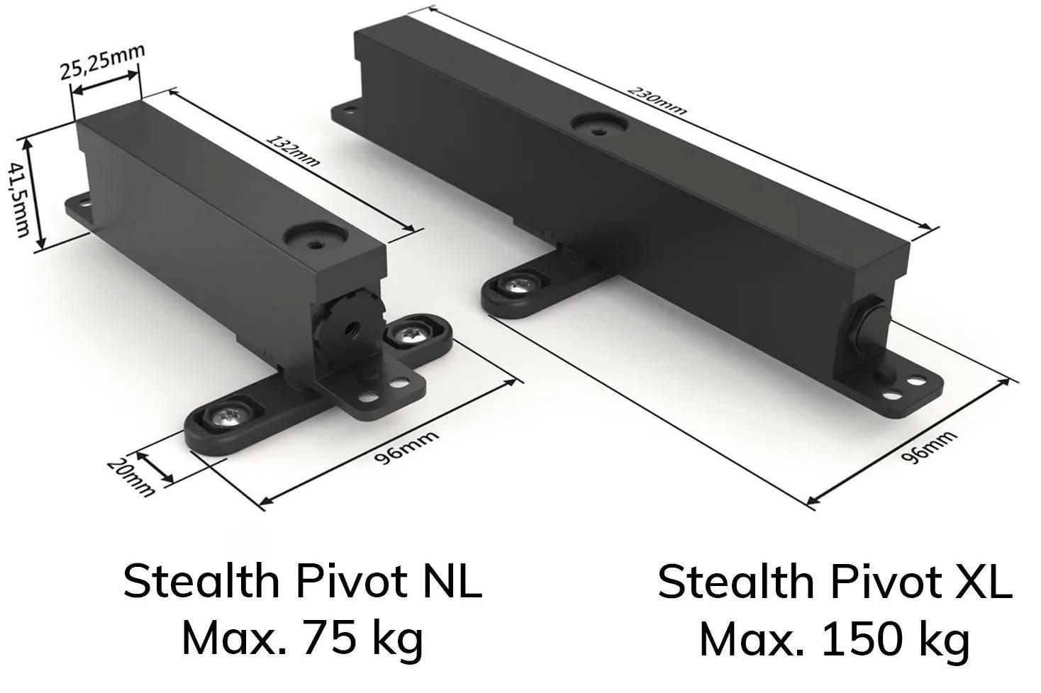 Stealth Pivot pivot hinge systems