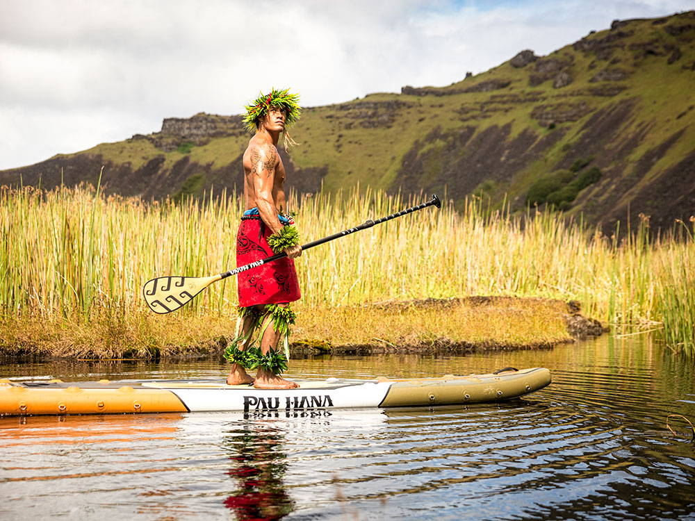 Riding the Endurance Air ultimate inflatable touring board from Pau Hana