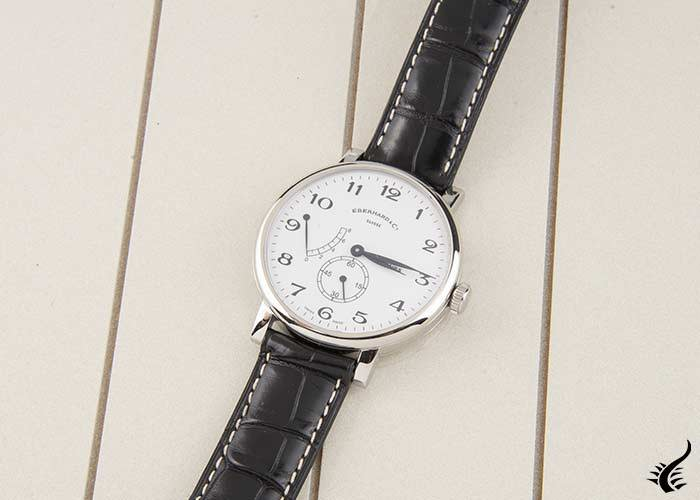 Eberhard 8 Jours Grande Taille Watch, Manual winding, ETA 7001, Small Second