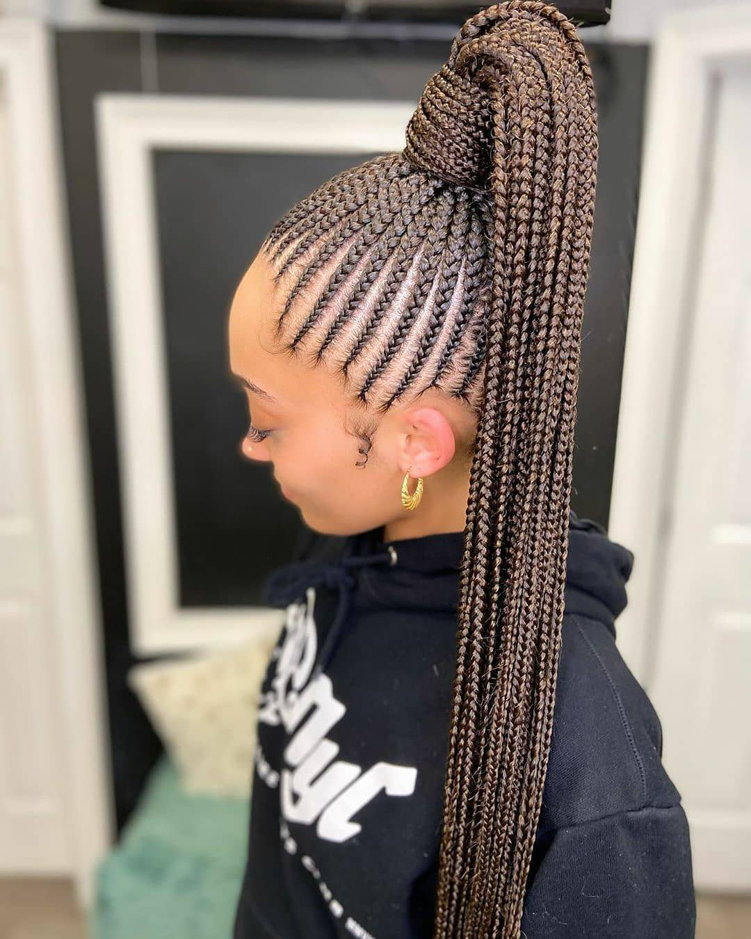 braided ponytail weave Hairstyle