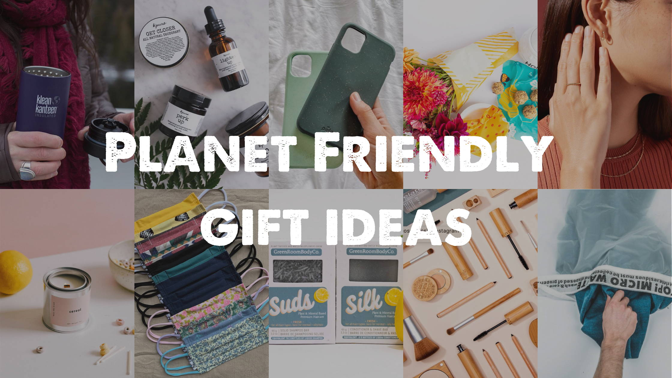 Sustainable Gift list for the holidays 2020