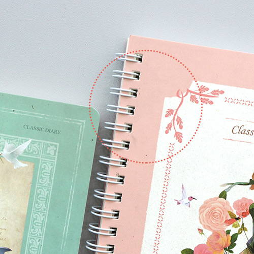 Recycled paper - Anne story spiral undated monthly diary notebook