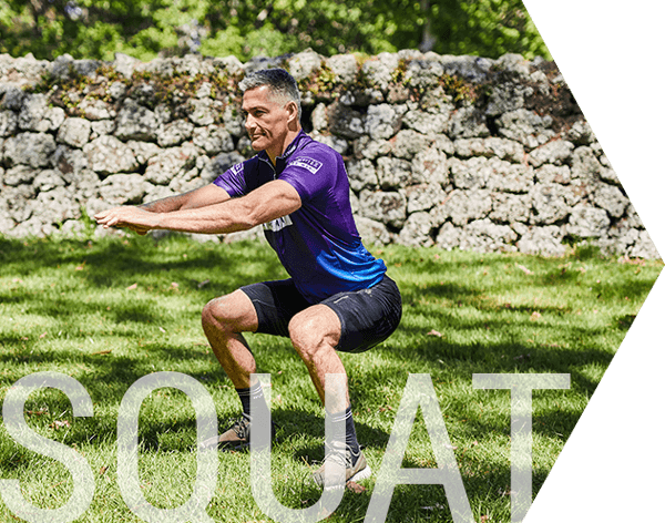 Confitex men's health and wellness ambassador Tony Marsh demonstrates squats