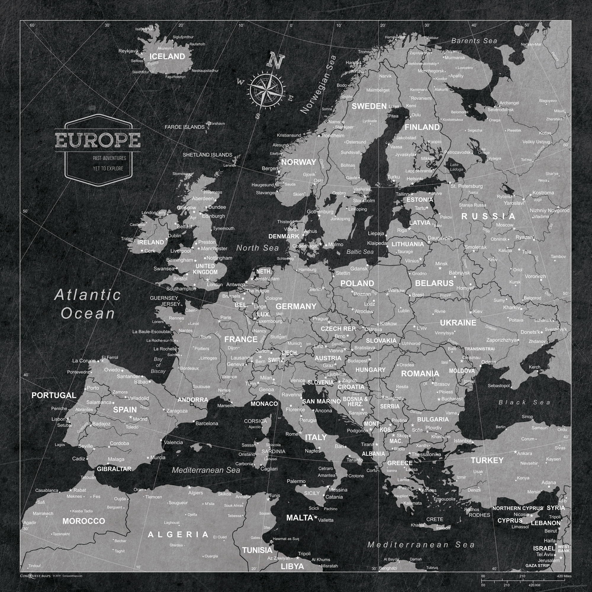 Conquest Maps Modern slate Europe