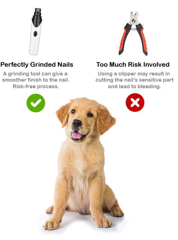Pet Nail Grinder, Pet Nail Trimmer, Safe Nail Grinding
