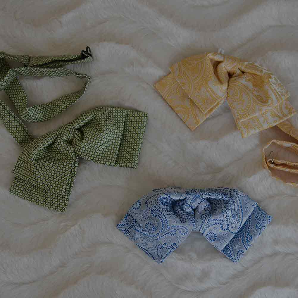 Assortment of pattern blow bow ties