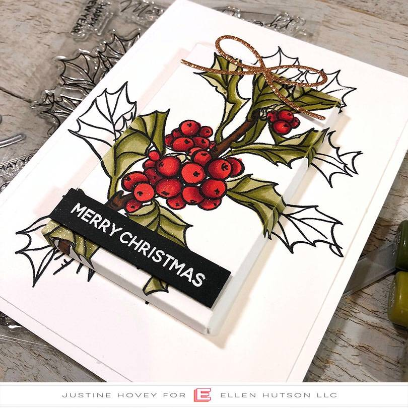 Essentials by Ellen Parcel Box holiday card closeup
