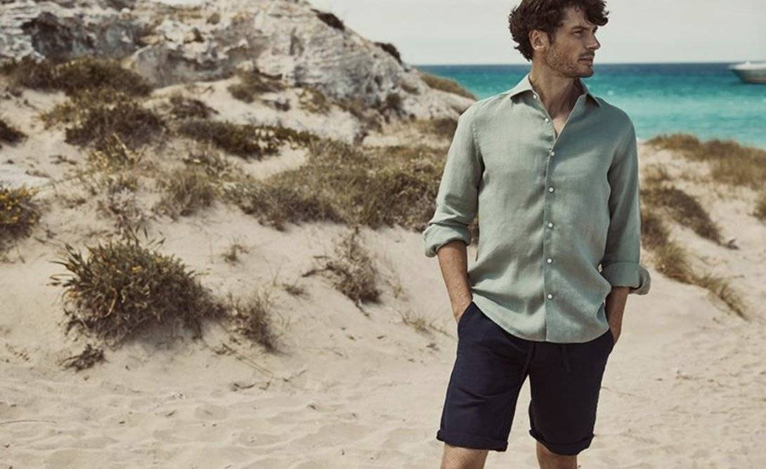 Luca Faloni bermuda shorts mens made in Italy