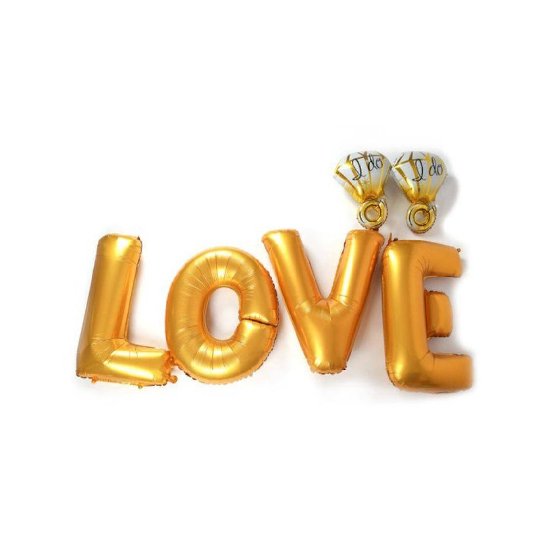 Love & Diamond Decoration Set | Engagement Party Decoration Balloon | Wedding Decoration | Proposal Party Decoration