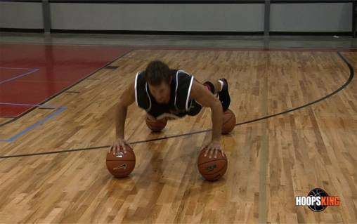 basketball pushups and strength workout