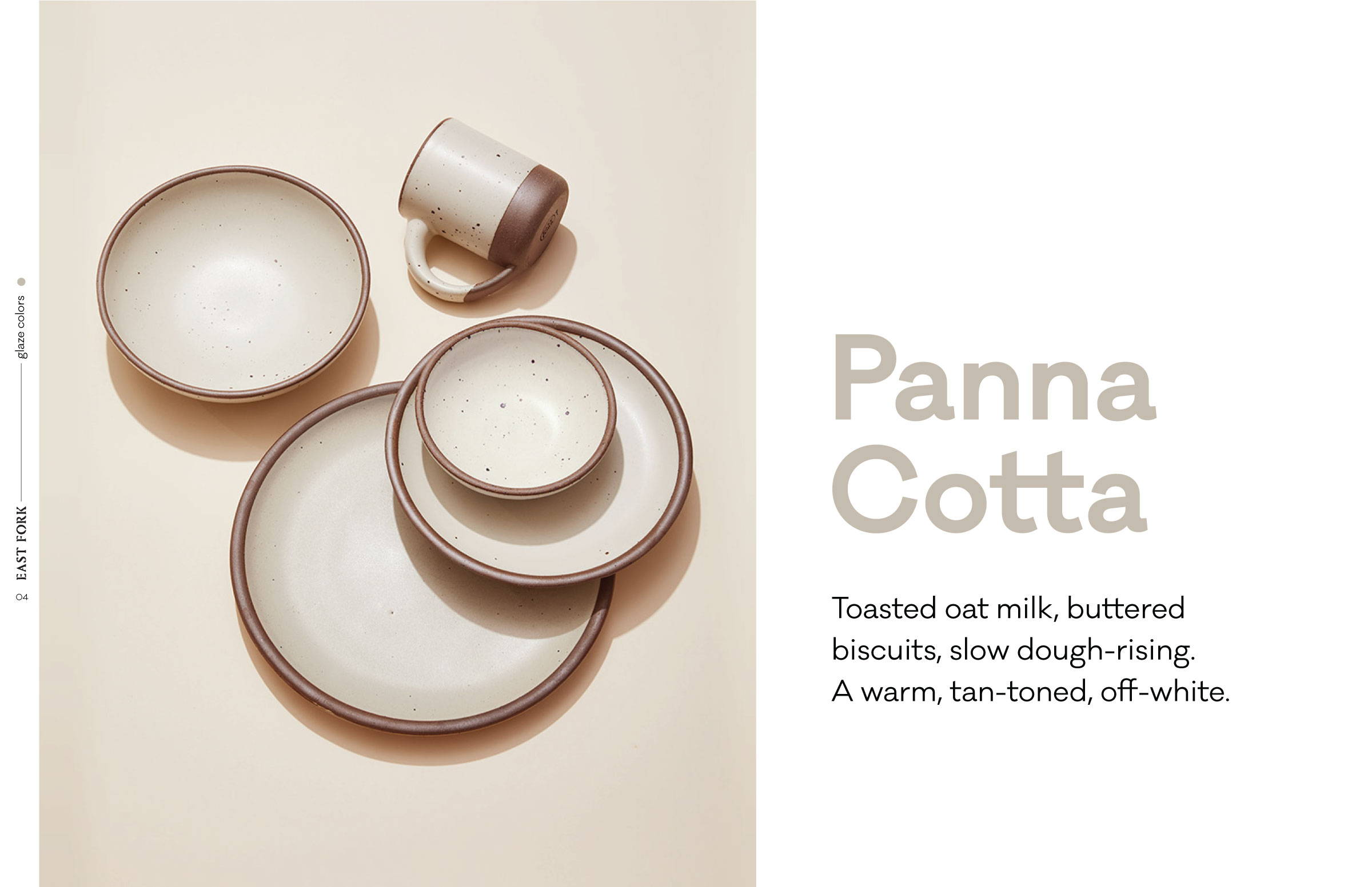 Panna Cotta: a warm, tan-toned, off-white