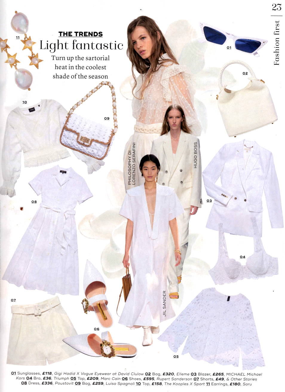 SORU JEWELLERY IN MARIE CLAIRE MAGAZINE, SORU ELECTRA PEARL STAR EARRINGS
