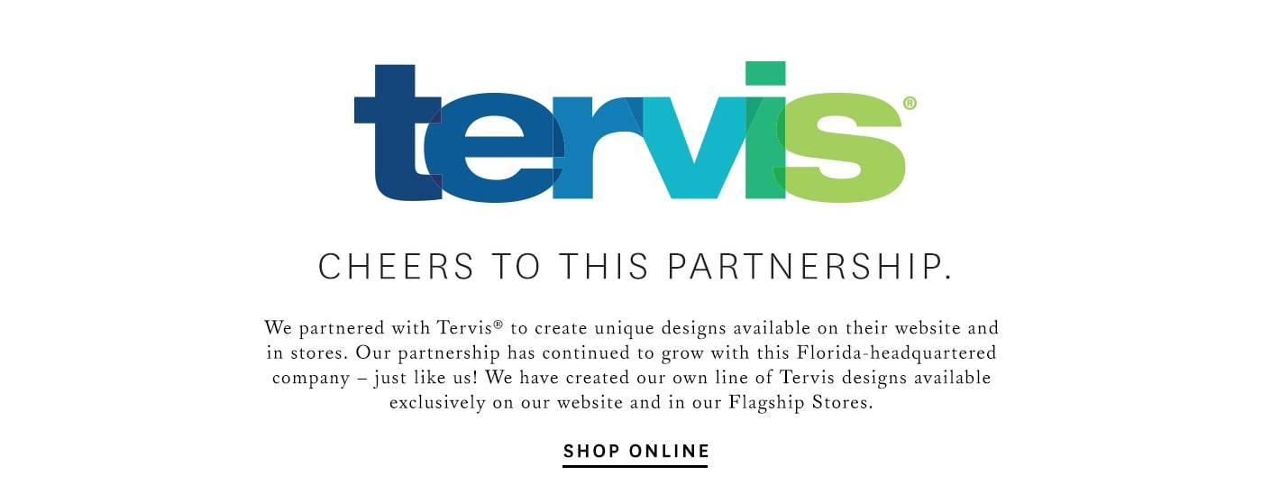 Tervis. Cheers to this partnership.