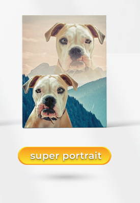 super portrait pet art example