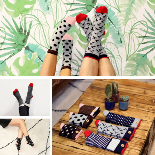 cabaia collaboration SPA chaussettes inséparables