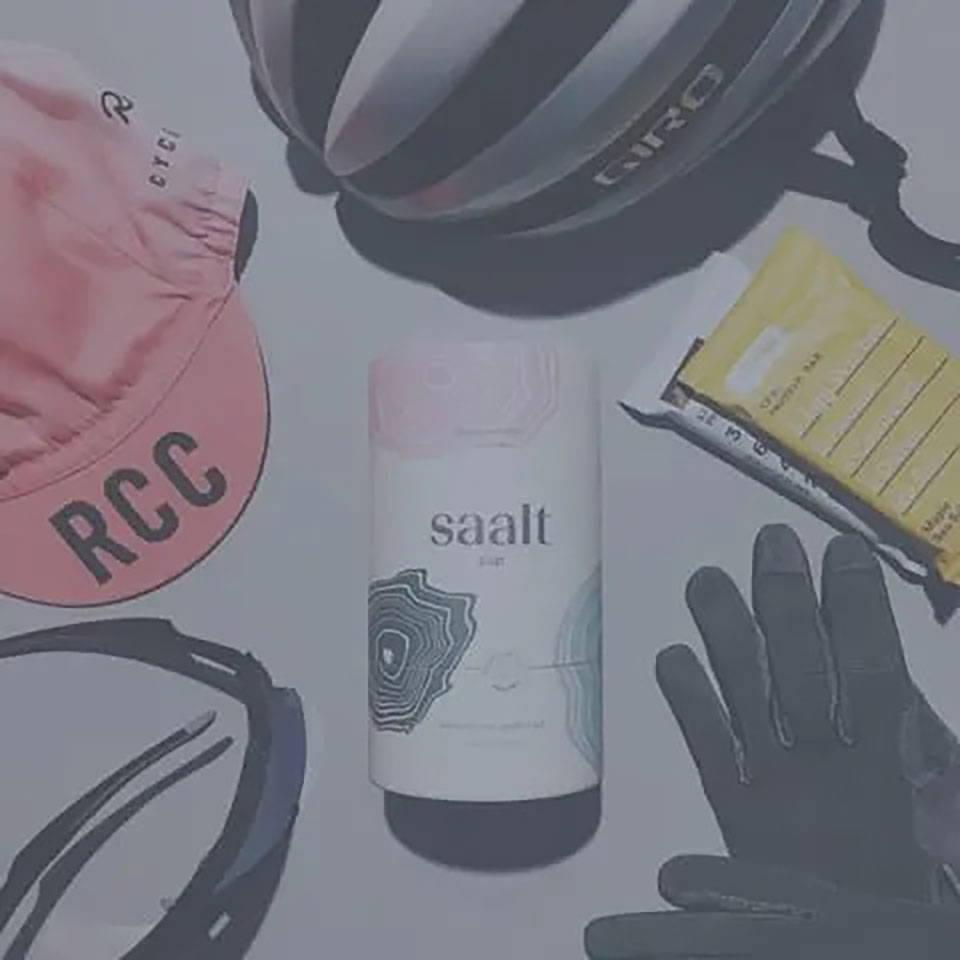 Saalt Cup and bike equipment.